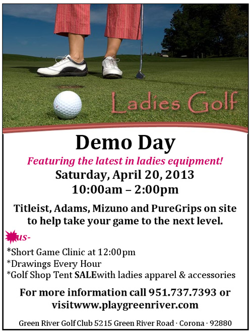 Green River Golf Club Demo Day Ladies