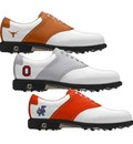 Footjoy Mens NCAA ICON Traditional Saddle MyJoys Golf Shoes - FJ# 52035